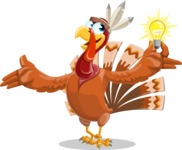 Indian Turkey Cartoon Vector Character AKA Snoody the Native Turkey - Idea