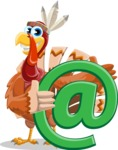 Indian Turkey Cartoon Vector Character AKA Snoody the Native Turkey - Email