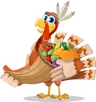 Snoody the Native Turkey - Basket 4