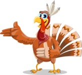 Indian Turkey Cartoon Vector Character AKA Snoody the Native Turkey - Show 2