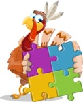 Snoody the Native Turkey - Puzzle