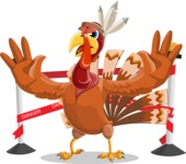 Indian Turkey Cartoon Vector Character AKA Snoody the Native Turkey - Under Construction