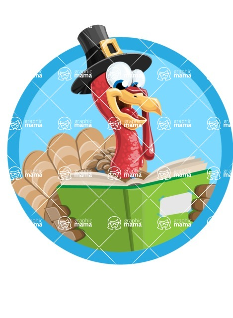 Thanksgiving Turkey Cartoon Vector Character AKA Mr. Turkey McFarm - Shape 3