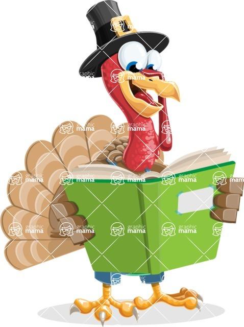 Thanksgiving Turkey Cartoon Vector Character AKA Mr. Turkey McFarm - Book 1