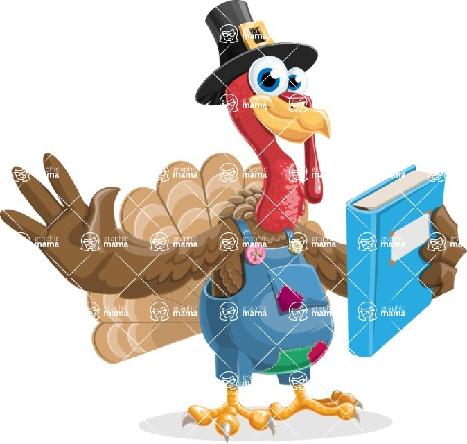 Thanksgiving Turkey Cartoon Vector Character AKA Mr. Turkey McFarm - Book 3