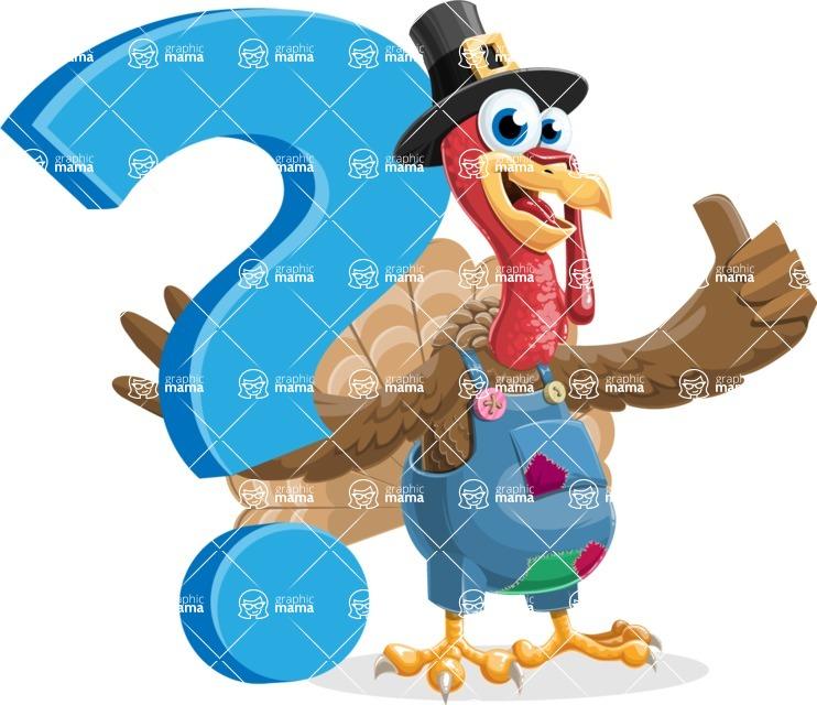 Thanksgiving Turkey Cartoon Vector Character AKA Mr. Turkey McFarm - Question