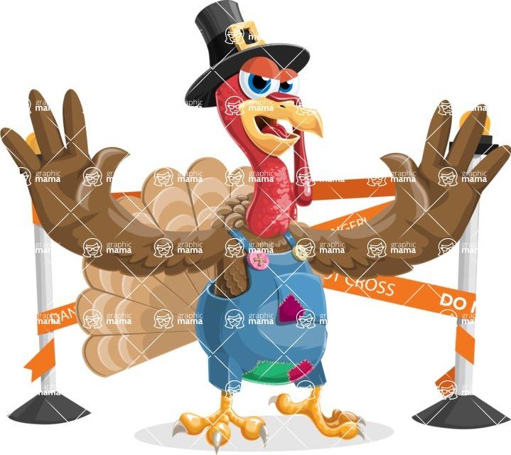 Thanksgiving Turkey Cartoon Vector Character AKA Mr. Turkey McFarm - Under Construction