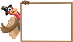 Thanksgiving Turkey Cartoon Vector Character AKA Mr. Turkey McFarm - Presentation 5