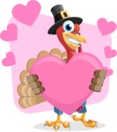 Thanksgiving Turkey Cartoon Vector Character AKA Mr. Turkey McFarm - Shape 7