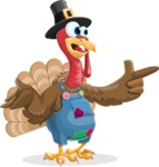 Thanksgiving Turkey Cartoon Vector Character AKA Mr. Turkey McFarm - DirectAttention 2