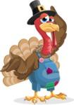 Thanksgiving Turkey Cartoon Vector Character AKA Mr. Turkey McFarm - Sorry