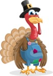 Thanksgiving Turkey Cartoon Vector Character AKA Mr. Turkey McFarm - Sad