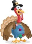 Thanksgiving Turkey Cartoon Vector Character AKA Mr. Turkey McFarm - Shocked