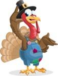 Thanksgiving Turkey Cartoon Vector Character AKA Mr. Turkey McFarm - Lost