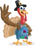 Thanksgiving Turkey Cartoon Vector Character AKA Mr. Turkey McFarm - Hello