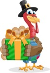 Thanksgiving Turkey Cartoon Vector Character AKA Mr. Turkey McFarm - Gift