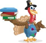 Thanksgiving Turkey Cartoon Vector Character AKA Mr. Turkey McFarm - Book 2