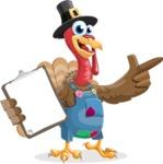 Thanksgiving Turkey Cartoon Vector Character AKA Mr. Turkey McFarm - Notepad 1
