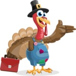 Thanksgiving Turkey Cartoon Vector Character AKA Mr. Turkey McFarm - Briefcase 2
