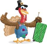 Thanksgiving Turkey Cartoon Vector Character AKA Mr. Turkey McFarm - Travel 1