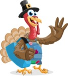 Thanksgiving Turkey Cartoon Vector Character AKA Mr. Turkey McFarm - Travel 2