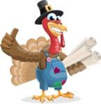 Thanksgiving Turkey Cartoon Vector Character AKA Mr. Turkey McFarm - Plans