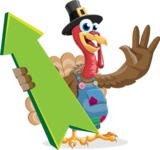 Thanksgiving Turkey Cartoon Vector Character AKA Mr. Turkey McFarm - Pointer 1