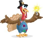 Thanksgiving Turkey Cartoon Vector Character AKA Mr. Turkey McFarm - Idea