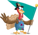 Thanksgiving Turkey Cartoon Vector Character AKA Mr. Turkey McFarm - Checkpoint