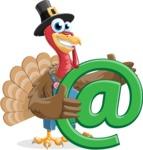 Thanksgiving Turkey Cartoon Vector Character AKA Mr. Turkey McFarm - Email