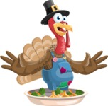 Thanksgiving Turkey Cartoon Vector Character AKA Mr. Turkey McFarm - Oh no!