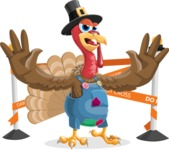Thanksgiving Turkey Cartoon Vector Character AKA Mr. Turkey McFarm - Under Construction