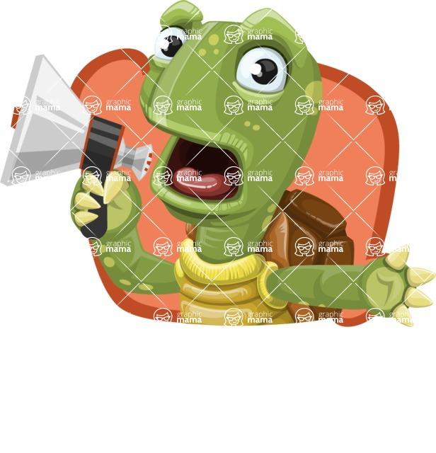 Turtle Cartoon Vector Character AKA Juan the Joyful - Shape 4