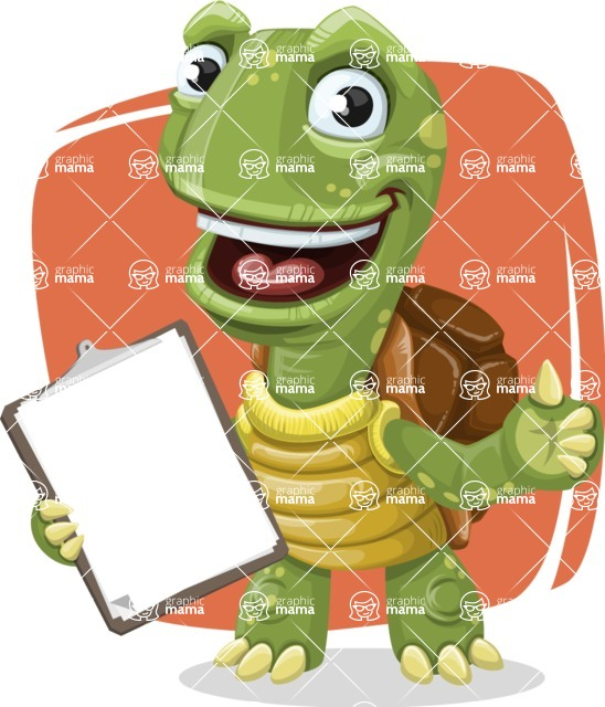 Turtle Cartoon Vector Character AKA Juan the Joyful - Shape 5