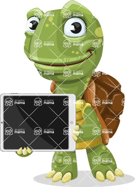 Turtle Cartoon Vector Character AKA Juan the Joyful - iPad 2