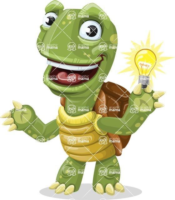 Turtle Cartoon Vector Character AKA Juan the Joyful - Idea 1