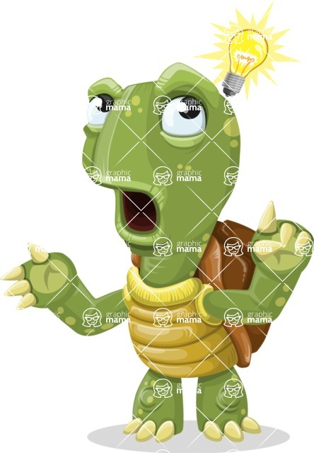 Turtle Cartoon Vector Character AKA Juan the Joyful - Idea 2