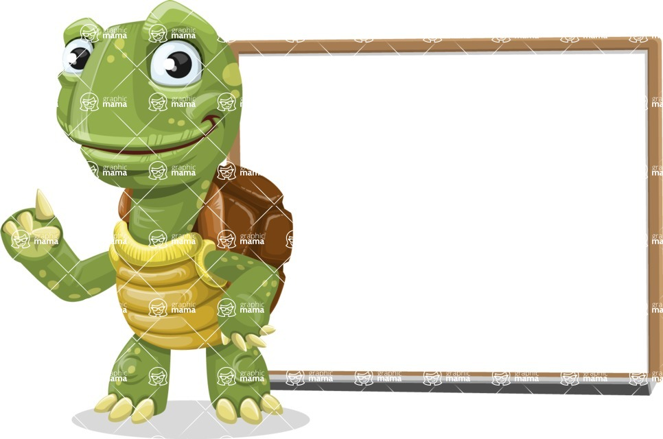 Turtle Cartoon Vector Character AKA Juan the Joyful - Presentation 3