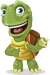 Turtle Cartoon Vector Character AKA Juan the Joyful - Point 2