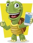 Turtle Cartoon Vector Character AKA Juan the Joyful - Shape 11