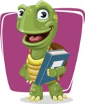 Turtle Cartoon Vector Character AKA Juan the Joyful - Shape 12