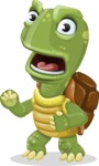 Turtle Cartoon Vector Character AKA Juan the Joyful - Angry
