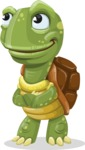 Turtle Cartoon Vector Character AKA Juan the Joyful - Patient