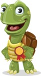 Turtle Cartoon Vector Character AKA Juan the Joyful - Ribbon