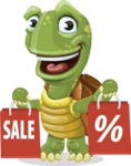 Turtle Cartoon Vector Character AKA Juan the Joyful - Sale 2