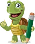 Juan the Joyful Turtle - Pencil