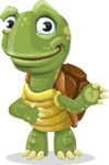 Turtle Cartoon Vector Character AKA Juan the Joyful - Showcase