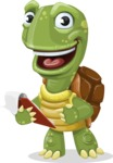 Turtle Cartoon Vector Character AKA Juan the Joyful - Notepad 3