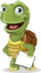 Turtle Cartoon Vector Character AKA Juan the Joyful - Notepad 4