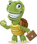 Turtle Cartoon Vector Character AKA Juan the Joyful - Briefcase 2